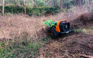 green climber remote controlled mowing